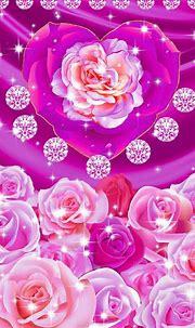 Wallpaper | Pink heart wallpaper, Rose wallpaper, Flowery ...