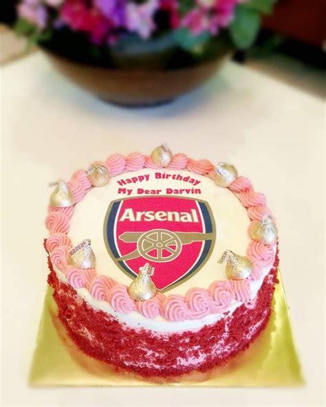 kek birthday kek harijadi bertema  arsenal