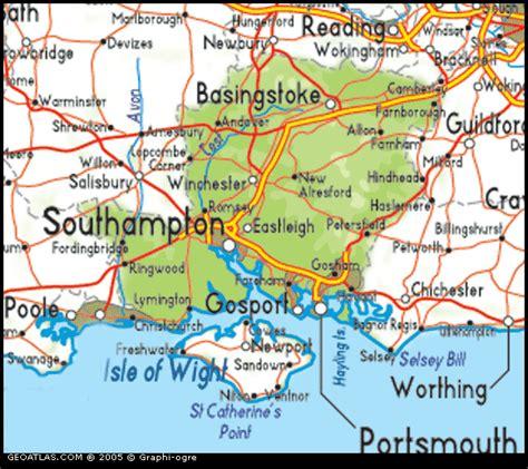 map  hampshire england uk map uk atlas