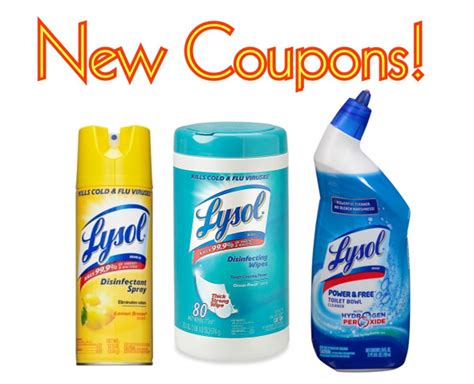 Printable Coupons: Save $1.50 on Lysol Products