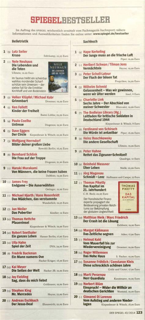 Platz 2 Sachbuch auf der Spiegel BestsellerListe und bei