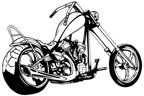 Motorcycle Chopper Clipart