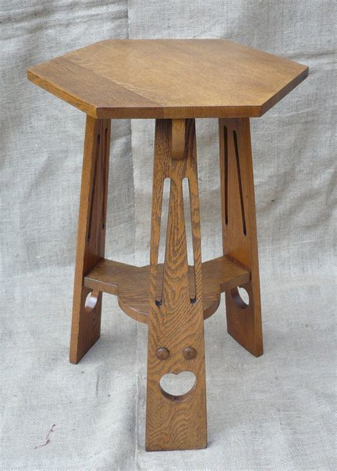arts and crafts table ls small arts and crafts side table in oak antiques atlas