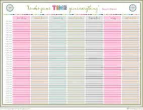 8 printable weekly schedule memo formats