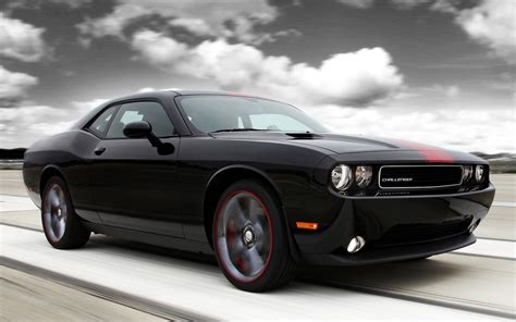 Black Dodge Challenger by Black Dodge Challenger American Car Desktop Wallpaper