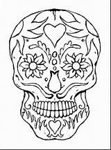 Coloring Skull Getdrawings Bones Amazing sketch template
