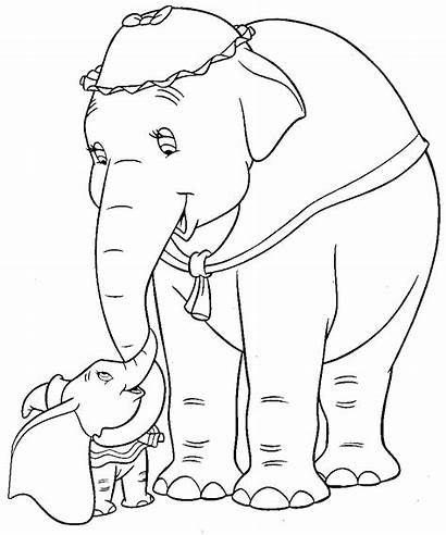 Dumbo Coloring Disney Pages Jumbo Colouring Movies