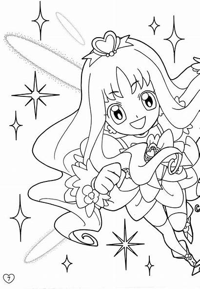 Coloring Cure Precure Anime Heartcatch Pages Pretty