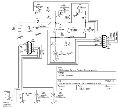 Schematic For Underwater Camera With High Intensity Led