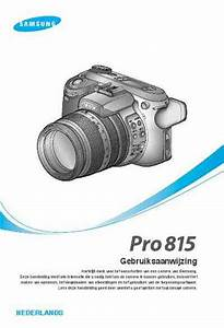 Samsung Pro 815 The Camera   Camera Download Manual For Free Now