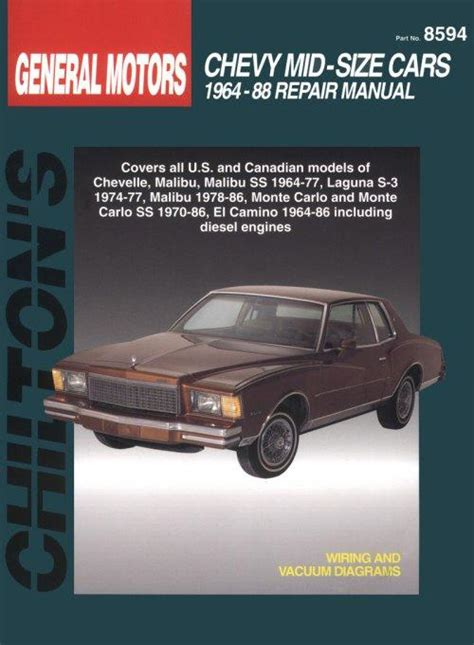 small engine repair manuals free download 1968 chevrolet camaro auto manual 1964 1988 chevrolet mid size cars chilton s total car