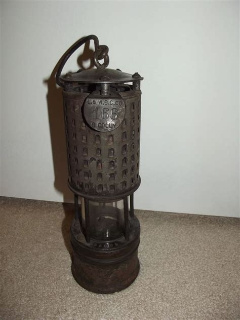 antique permissible miners safety lamp lantern