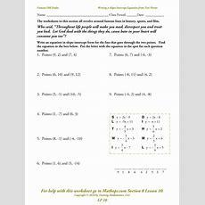 Writing Equations In Slope Intercept Form Worksheet 4 2 Answers Tessshebaylo