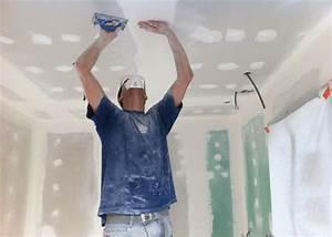 Comment Enduire Un Plafond : comment poser un faux plafond placo bricobistro ~ Mglfilm.com Idées de Décoration