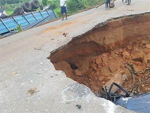 One Dead As Car Falls Into A Pit On A Collapsed Highway In ...