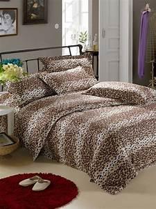 Bettwäsche Set 4 Teilig : leopard druck bettw sche set 4 teilig baumwolle ~ Orissabook.com Haus und Dekorationen