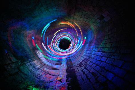 Wallpaper Vortex Anime - wallpaper exposure spiral symmetry blue light