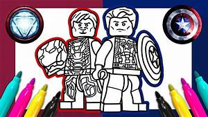 Captain America Iron Man Coloring Page