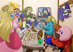 Princess Peach, Mario, Falco, Link, Marth, Samus, Ness ...
