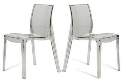 chaises transparentes pas cher lot de 2 chaises transparentes chaises design pas cher