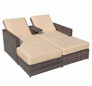Lounge Sofa Outdoor : details about outdoor 3pc rattan wicker furniture set patio sofa loveseat chair chaise lounge ~ Frokenaadalensverden.com Haus und Dekorationen