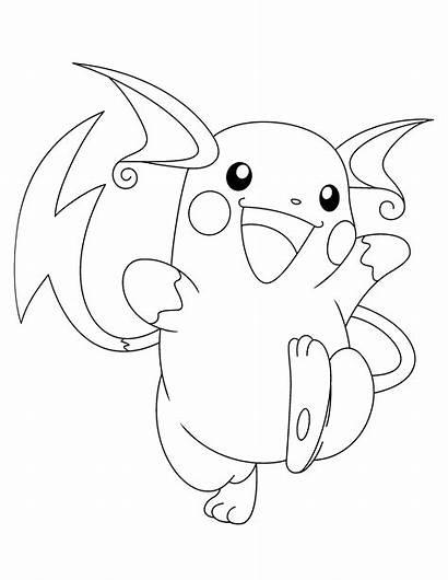 Coloring Raichu Pokemon Quick Printable Via Animados