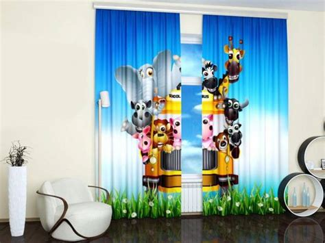 custom photo curtains adding digital prints  kids room decorating