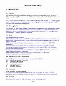 architecture document template With solution approach document template