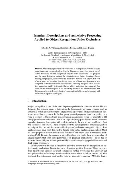 (PDF) Invariant Descriptions and Associative Processing