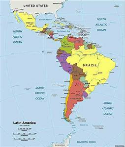 Latin America World Map Latin America World Map - Large scale world map