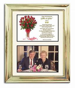 50th wedding anniversary gift in gold 8x10 frame With wedding anniversary photo frames