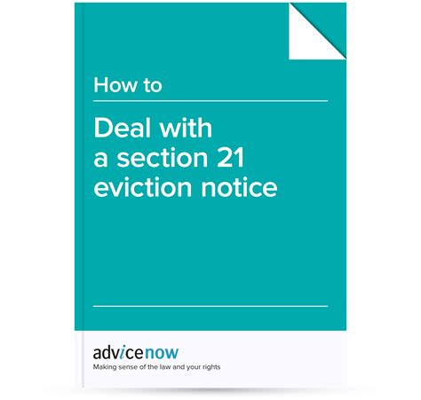 deal   section  eviction notice advicenow