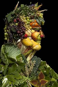 Creative, Portraits, Made, Of, Fruits, Vegetables, U0026, Flowers