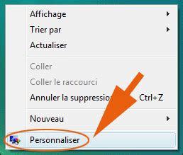 retrouver la corbeille sous windows 7 ou vista