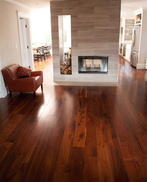 Longleaf Lumber   Reclaimed Walnut Flooring (Black)