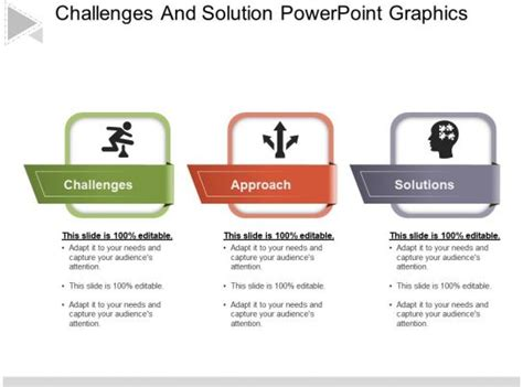 challenges  solution powerpoint graphics powerpoint