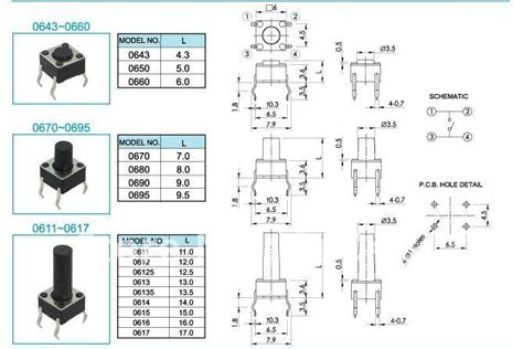 pcs tact switches tactile switch micro pushbutton