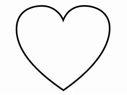 Heart Coloring Blank Pages сердечко Printable Coloring4free