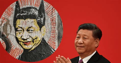 restaurant removes racist xi jinping bat man art  backlash