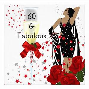Fabulous 60 60th Birthday Party Red Roses White 5.25 ...