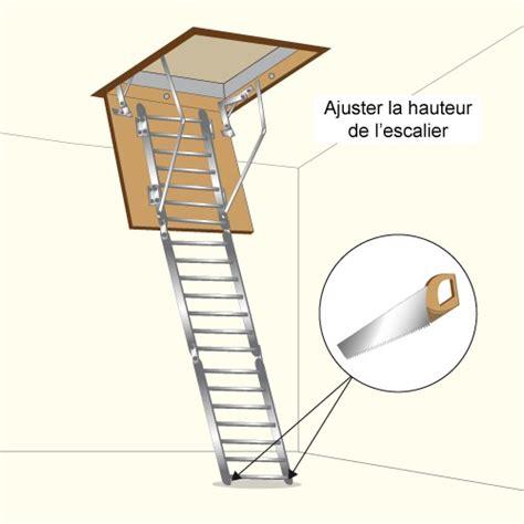 comment poser un escalier escamotable