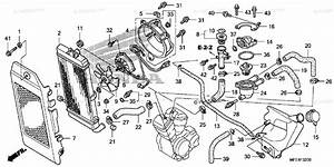 Honda Motorcycle 2008 Oem Parts Diagram For Radiator