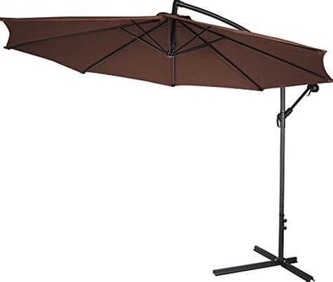 10 deluxe polyester offset patio umbrella by home