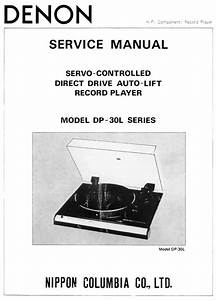 Denon Dp 30l   30l Ii Turntable System Service Manual Free