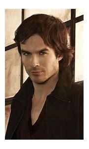 Damon Salvatore Is Wearing Black Overcoat In Glass Wall ...