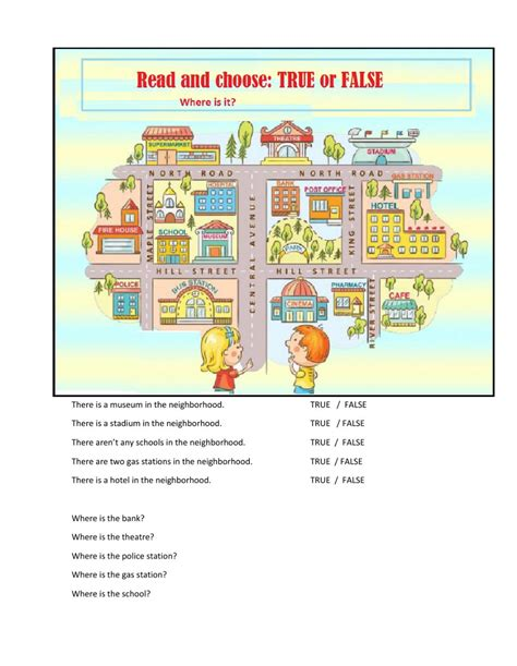 places in my neighborhood interactive worksheet