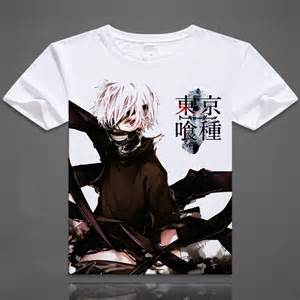 2015 new Japanese Anime Tokyo Ghoul Clothing Costume White T-shirt White Summer clothes  M,L,XL,XXL