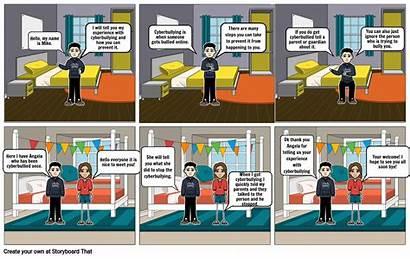Comic Strip Cyberbullying Storyboard Slide