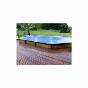gardipool oblong 460 x 810 x 133 margelle ipe piscine With amenagement de jardin avec piscine 8 kit berlinoise pin cl4 piscine et bois