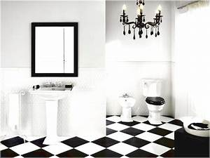 black and white tile bathroom design ideas eva furniture With black and white tile bathroom decorating ideas